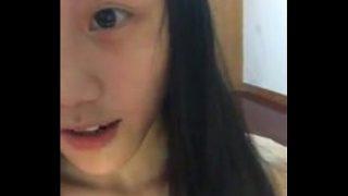 5743342 cute chinese girl selfie