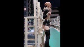 国产精品美女在天桥上直播用肉棒插到高潮